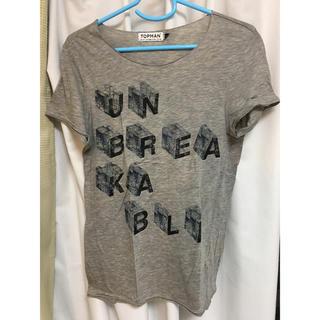 トップマン(TOPMAN)のTOPMAN メンズ Tシャツ グレー(Tシャツ/カットソー(半袖/袖なし))
