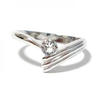 7号 ピンキー スワロフスキー シルバーリング(リング(指輪))