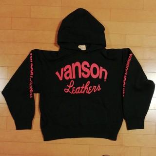 バンソン(VANSON)のバンソン パーカー ワンスター ブラック S(パーカー)