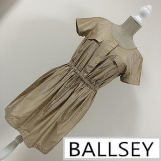 ボールジィ(Ballsey)のボールジィ シャツワンピース ベージュ(ひざ丈ワンピース)