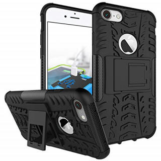 新品! iphone7/8 ケース ハード スタンド機能付き ブラック