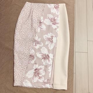 エイミーイストワール(eimy istoire)のeimy istoire blooming flower ミックスタイトスカート(ひざ丈スカート)