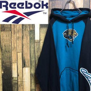 Reebok - 【激レア】リーボック☆NFLジャクソンビルジャガーズサイドプリントパーカー
