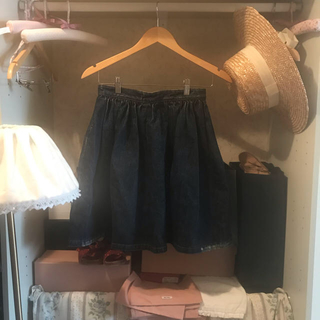 miumiu - miumiu denim skirt.