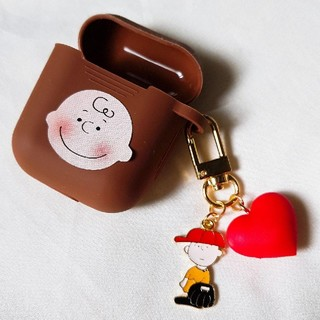 SNOOPY - 茶色 AirPods ケース エアーポッズ