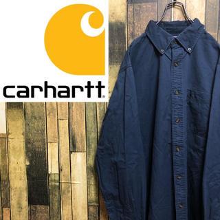 carhartt - 【激レア】カーハート☆ワンポイント刺繍ロゴ入りビッグワークシャツ
