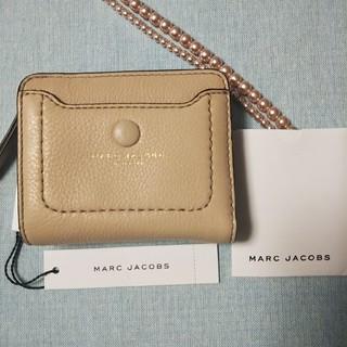 マークジェイコブス(MARC JACOBS)のマークジェイコブス 二つ折り財布 ベージュ ブラック 新品未使用(財布)