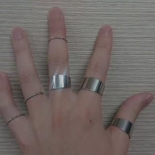 6連 リング 指輪 フリーサイズ