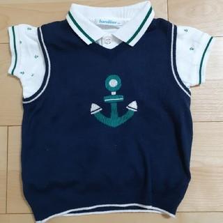 familiar - familiar☆ポロシャツ&ベストsize80