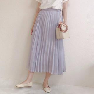 GU - 新品 プリーツスカート ロングスカート マキシ ロング プリーツロングスカート