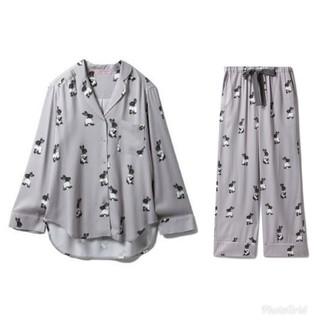 【新品】ジェラートピケ うさぎ パジャマ サテングレー 上下セット