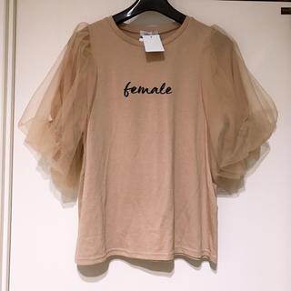 しまむら - しまむら♡2pink♡袖チュールTシャツ