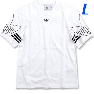 アディダス(adidas)の【メンズL】白  アウトライン Tシャツ(Tシャツ/カットソー(半袖/袖なし))