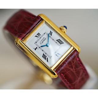 Cartier - 美品 カルティエ マスト タンク ホワイト SM Cartier