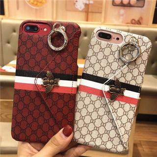 iPhone - ★人気No.1商品 赤再入荷 カードポケット付き iphoneケース