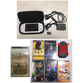 PlayStation Portable - PSP 3000 本体とソフト6枚、ケースのセット販売