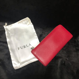フルラ(Furla)のFURLA フルラ 財布 長財布 L字ファスナー 赤 レッド ラウンドジップ(財布)