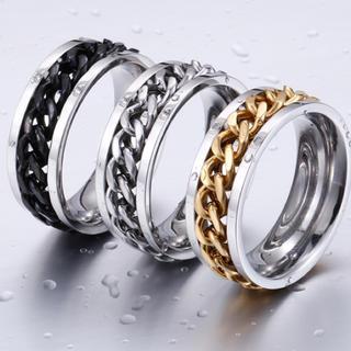 ★人気 ステンレスチェーンリング 指輪★(リング(指輪))