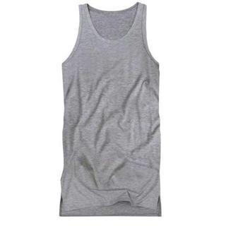 人気☆ ロングタンクトップ メンズ 三代目 TAKA メタリカT 裾角 L 灰(Tシャツ/カットソー(半袖/袖なし))