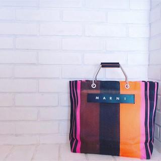 マルニ(Marni)のマルニ  フラワーカフェバック  新品未使用(トートバッグ)