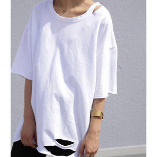 アンティカ(antiqua)のantiqua アンティカ ダメージTシャツ(Tシャツ(半袖/袖なし))