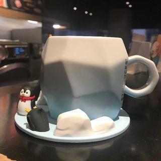 Starbucks Coffee - スタバ 氷山 可愛ペンギン マグカップ コースターセット 7月 海外限定 最安値