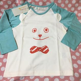 mikihouse - 新品 タグ付 ベイビーチアー baby cheer くまさん 長袖Tシャツブルー