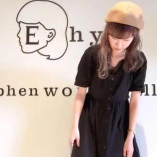 イーハイフンワールドギャラリー(E hyphen world gallery)のVネックフロントボタンワンピース(ひざ丈ワンピース)