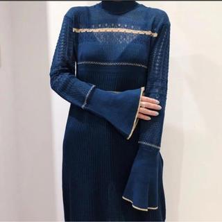 mame - 新品タグ付き★mame 19SS ノスタルジックパターンニットドレス