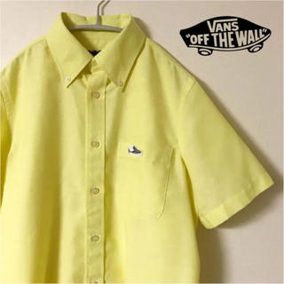 ヴァンズ(VANS)のVANS 半袖 シャツ S 黄色 ワンポイント スリッポン メンズ 古着(シャツ)
