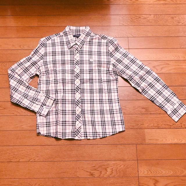 BURBERRY(バーバリー)の新品未使用 バーバリー シャツ Lサイズ ノバチェック BURBERRY レディースのトップス(シャツ/ブラウス(長袖/七分))の商品写真