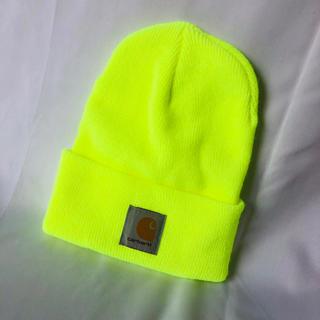 carhartt - スポーティー蛍光イエローニット帽
