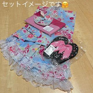しまむら - 新品・未使用 浴衣ドレス(スカート)4点セット+おまけ付き 130