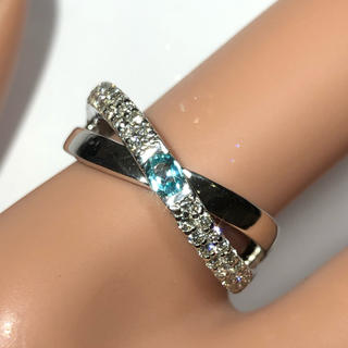 パライバトルマリン リング 指輪 ダイヤモンド パライバ pt900 プラチナ(リング(指輪))