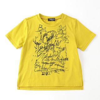 コムサイズム(COMME CA ISM)の新品 COMME CA ISM キッズ 半袖 Tシャツ 120 イエロー(Tシャツ/カットソー)