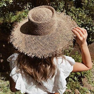 ルームサンマルロクコンテンポラリー(room306 CONTEMPORARY)のシーグラスハット 麦わら帽子(麦わら帽子/ストローハット)
