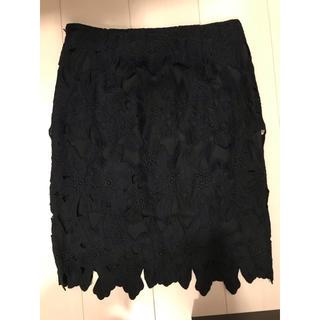 ジーユー(GU)の☆GU☆レーススカート(ひざ丈スカート)
