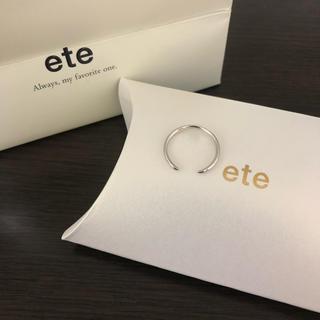 エテ(ete)のete K10 シルバーリング(リング(指輪))