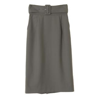 31 Sons de mode - 新品未使用タグ付き ベルテッドタイトスカート カーキ 38