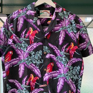 ART VINTAGE - 90s 古着 アロハシャツ 開襟シャツ レアカラー 好デザイン 派手柄 個性派