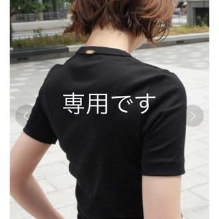 ドゥーズィエムクラス(DEUXIEME CLASSE)のDeuxieme Classe GIZA フライスTシャツ 黒 サイズ36(Tシャツ(半袖/袖なし))