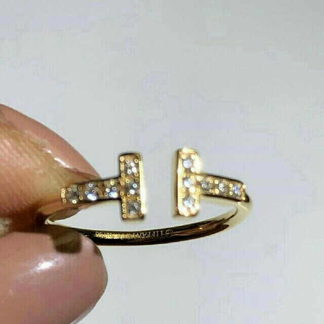 Tiffany & Co.(ティファニー)のティファニー ダイヤ Tワイヤー リング レディースのアクセサリー(リング(指輪))の商品写真