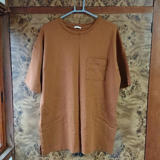 ジーユー(GU)のXL サイドスリット ポケット Tシャツ(Tシャツ(半袖/袖なし))