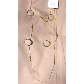 ニジュウサンク(23区)の送料込み 23区 ネックレス 新品未使用タグ付き 保存袋つき(ネックレス)