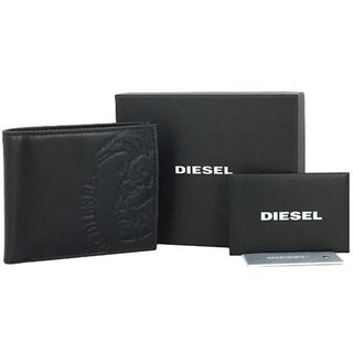 ディーゼル(DIESEL)のディーゼル 二つ折り財布 エンボスロゴ ブラック(折り財布)