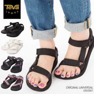 テバ(Teva)の新品 Teva オリジナル ユニバーサル スポーツサンダル 黒 24cm(サンダル)