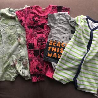 ベビーギャップ(babyGAP)のロンパース 70 半袖 4枚セット(ロンパース)