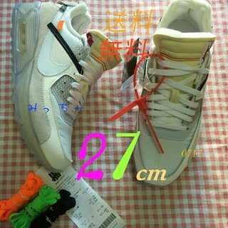 OFF-WHITE - NIKE AIR MAX 90 THE10 off-white 27cm