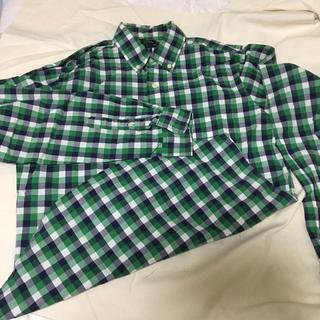 ギャップ(GAP)のグリーンxホワイトxネイビーのチェック GAPのシャツ(シャツ/ブラウス(長袖/七分))