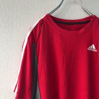 アディダス(adidas)のadidas 3ライン ロゴTシャツ ゲームシャツ スポーツシャツ(Tシャツ/カットソー(半袖/袖なし))